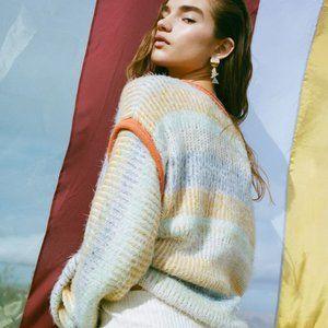 EUC UO Marcia Mixed Knit Crew Neck Sweater